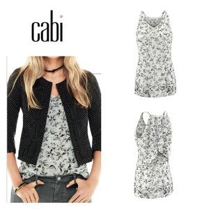 CAbi Terrace Cami Moody Floral size small NEW